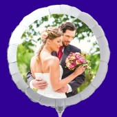 Fotoballon mit Hochzeitspaar, personalisiert, mit Namen der Brautleute und Datum des Hochzeitstages