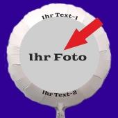 Fotoballon, Luftballon mit eigenem Foto und eigenem Text