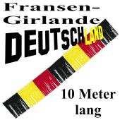 Fransengirlande Deutschland, Dekorations-Fransen-Girlande in Deutschland-Farben