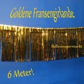 Silvesterdekoration und Partydekoration, goldene Fransengirlande