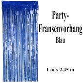 Silvesterdekoration und Partydekoration, blauer Fransenvorhang