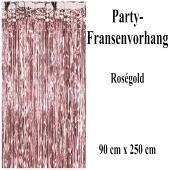 Silvesterdekoration und Partydekoration, rosegoldener Fransenvorhang