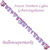 Kindergeburtstagsbanner Frozen Northern Lights