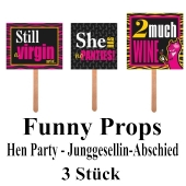 Party Props, Hen Party, Foto Requisiten, Junggesellinnenabschied