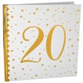 Gästebuch zum 20. Geburtstag und Jubiläum