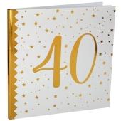 Gästebuch zum 40. Geburtstag und Jubiläum