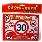 Gästebuch zum 30. Geburtstag, Verkehrsschild 30