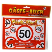 Gästebuch zum 50. Geburtstag, Verkehrsschild 50
