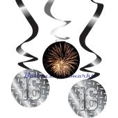Finally 16 Swirls, Zahlendekoration zum 16. Geburtstag