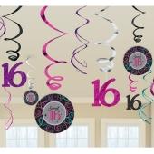 Sweet 16 Swirls, Zahlendekoration zum 16. Geburtstag