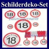 Schilderdeko-Set zum 18. Geburtstag