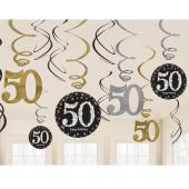 Dekoration zum 50. Geburtstag, Zahlenwirbler Sparkling Celebration
