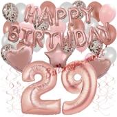 Dekorations-Set mit Ballons zum 29. Geburtstag, Happy Birthday Dream, 42 Teile