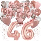 Dekorations-Set mit Ballons zum 46. Geburtstag, Happy Birthday Dream, 42 Teile