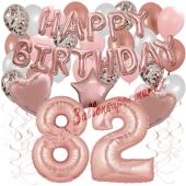Dekorations-Set mit Ballons zum 82. Geburtstag, Happy Birthday Dream, 42 Teile