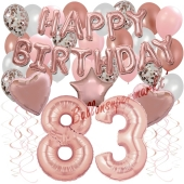 Dekorations-Set mit Ballons zum 83. Geburtstag, Happy Birthday Dream, 42 Teile
