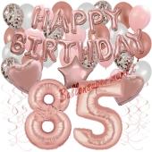 Dekorations-Set mit Ballons zum 85. Geburtstag, Happy Birthday Dream, 42 Teile