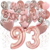 Dekorations-Set mit Ballons zum 93. Geburtstag, Happy Birthday Dream, 42 Teile