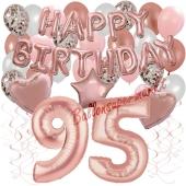 Dekorations-Set mit Ballons zum 95. Geburtstag, Happy Birthday Dream, 42 Teile