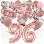 Dekorations-Set mit Ballons zum 96. Geburtstag, Happy Birthday Dream, 42 Teile