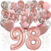 Dekorations-Set mit Ballons zum 98. Geburtstag, Happy Birthday Dream, 42 Teile