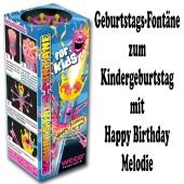 Geburtstags-Fontäne for Kids, Happy Birthday Melodie, kleines Feuerwerk zur Kindergeburtstagsparty