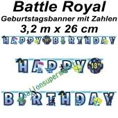 Kindergeburtstagsbanner Battle Royal mit Zahlen
