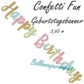 Geburtstagsbanner Confetti Fun