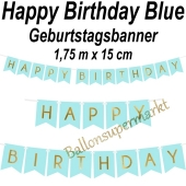 Geburtstagsbanner Happy Birthday Blue