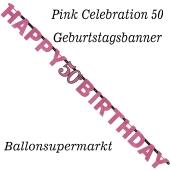 Geburtstagsbanner Pink Celebration 50