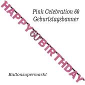 Geburtstagsbanner Pink Celebration 60