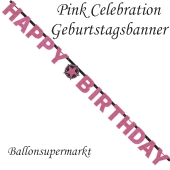 Geburtstagsbanner Pink Celebration Birthday