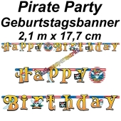 Kindergeburtstagsbanner Pirate Party