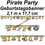 Kindergeburtstagsbanner Pirate Party