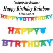 Geburtstagsbanner Rainbow Happy Birthday