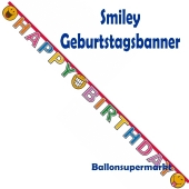 Geburtstagsbanner Smiley Comic