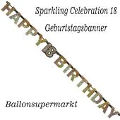 Geburtstagsbanner Sparkling Celebration 18