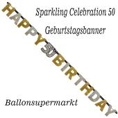 Geburtstagsbanner Sparkling Celebration 50