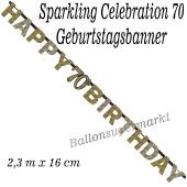 Geburtstagsbanner Sparkling Celebration 70