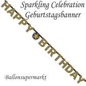Geburtstagsbanner Sparkling Celebration Birthday