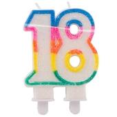 Geburtstagskerze Zahl 18 zum 18. Geburtstag