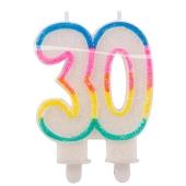 Geburtstagskerze Zahl 30 zum 30. Geburtstag
