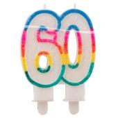 Geburtstagskerze Zahl 60 zum 60. Geburtstag