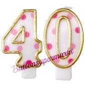 Kerzen Pink Dots, Zahl 40