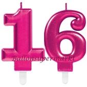 Kerzen Pink Celebration, Zahl 16