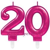 Kerzen Pink Celebration, Zahl 20