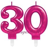 Kerzen Pink Celebration, Zahl 30