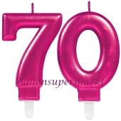Kerzen Pink Celebration, Zahl 70