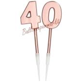 Kerzen Roségold Metallic Zahl 40