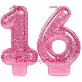 Zahlenkerzen Sweet 16